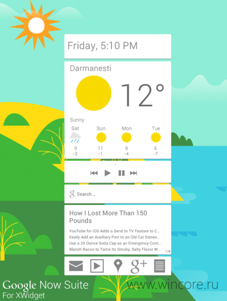 Google Now Suite � ������� ����� �������� ��� XWidget � ����� Google Now