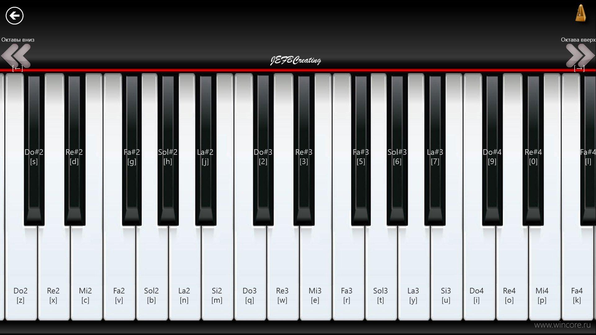 Скачать бесплатно программу виртуального пианино