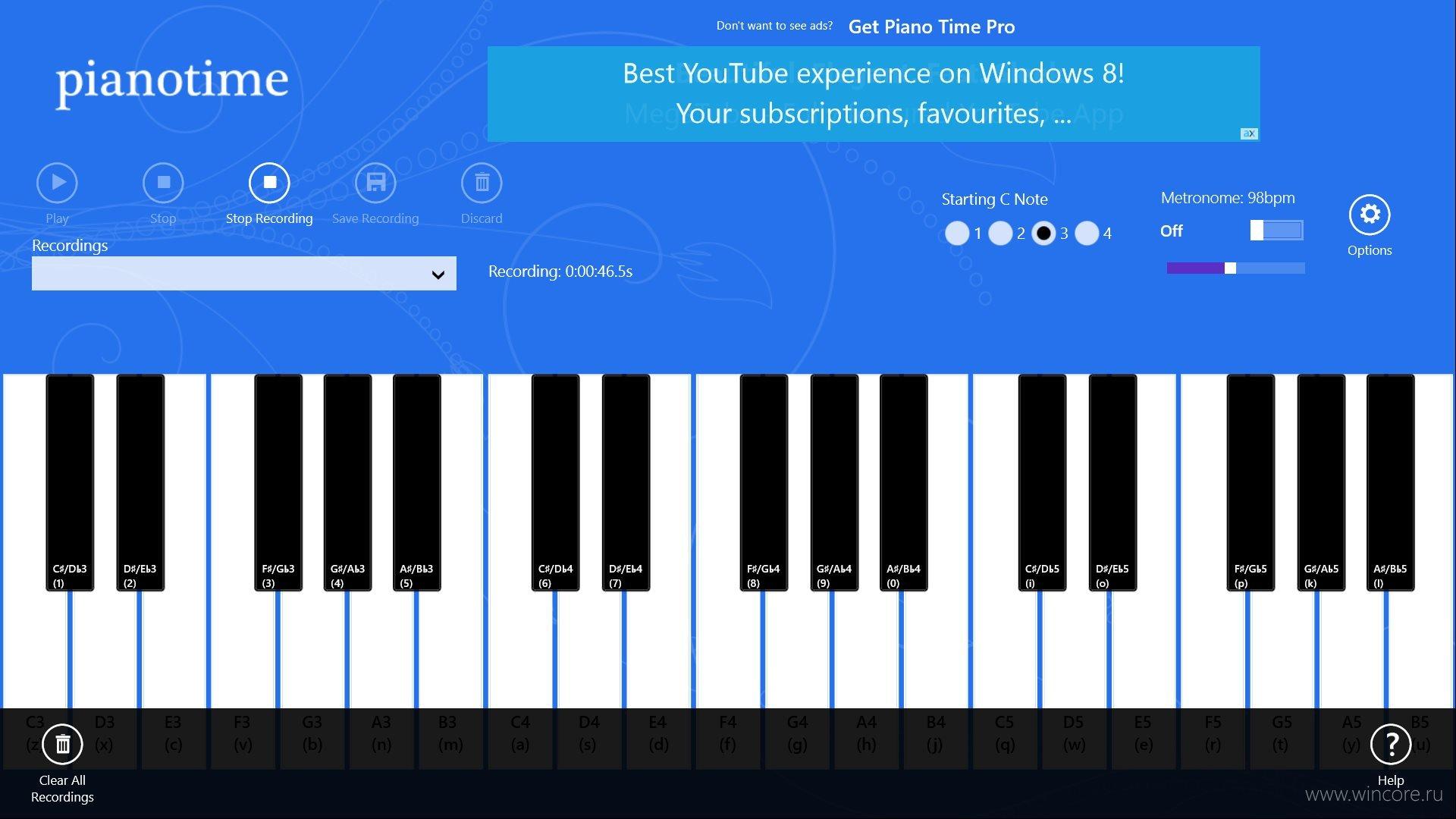 Виртуальное пианино скачать на компьютер windows 7