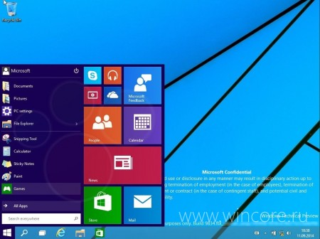 Windows Technical Preview ����� ������������ � ������ ������ �������
