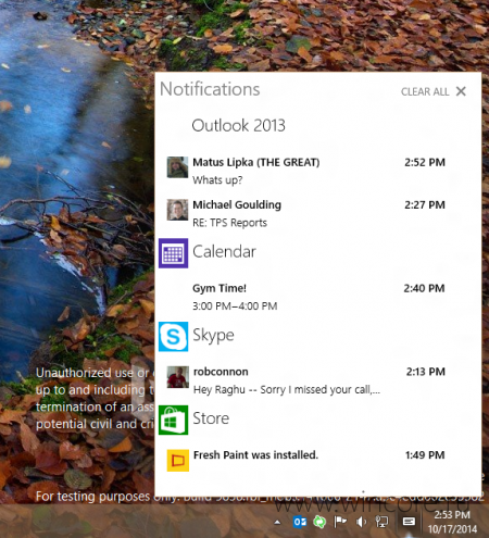 ������������ ����� ������ Windows 10 Technical Preview