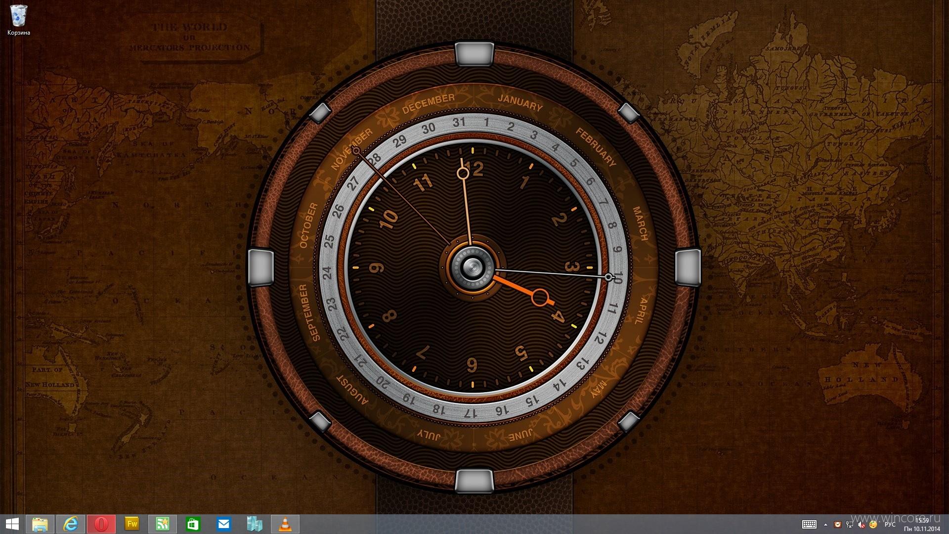 Живые часы на экран телефона
