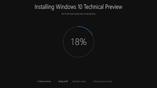 Видео: обновлённый инсталлятор Windows 10 Technical Preview