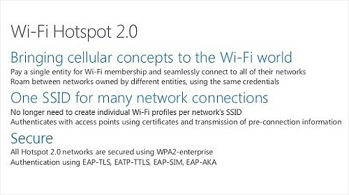 Windows 10 будет поддерживать технологии Wi-Fi Hotspot 2.0 и Bluetooth Wideband Speech