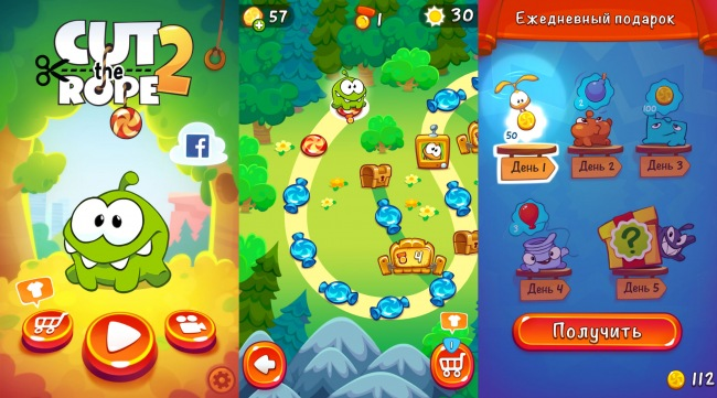 Для Windows и Windows Phone выпущена игра Cut the Rope 2
