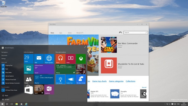 ���� ����������� ���������� ����� ������ Windows 10 Technical Preview