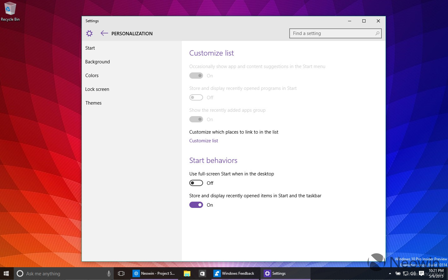 Скриншоты и видео: Windows 10 Insider Preview 10114
