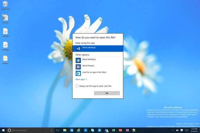 Скриншоты Windows 10 Insider Preview 10136