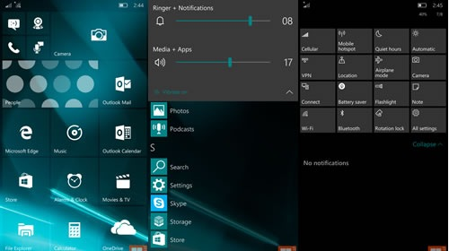 Скриншоты Windows 10 Mobile Insider Preview 10162