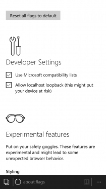 ��������� Windows 10 Mobile Insider Preview 10166