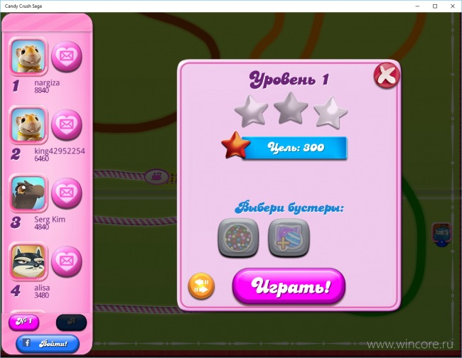 Candy Crush Saga выпущена для Windows 10