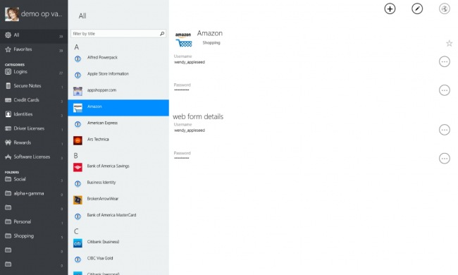 Альфа-версия 1Password выпущена и для Windows 10