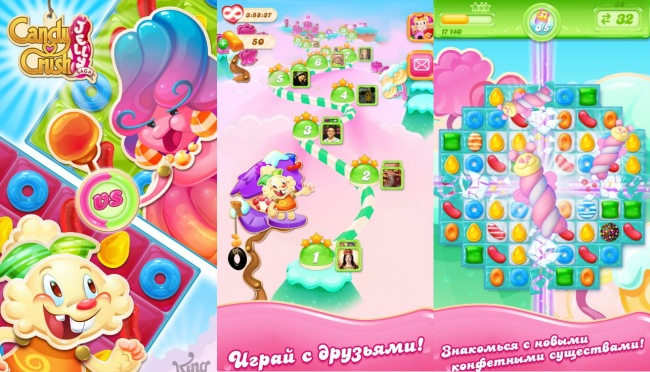 Candy Crush Jelly Saga пришла в Магазин Windows