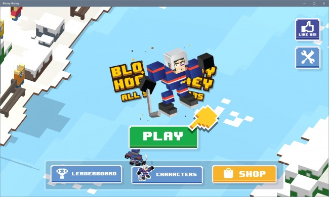 Blocky Hockey — забавный спортивный раннер
