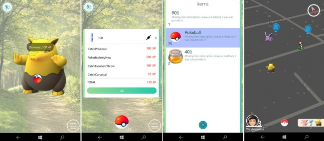 PoGo-UWP — играем в Pokemon GO на смартфонах с Windows 10 Mobile