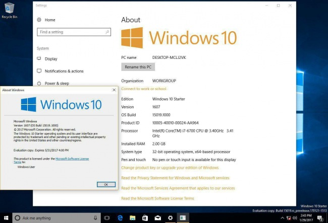 Новые редакции Windows 10: Cloud и Starter