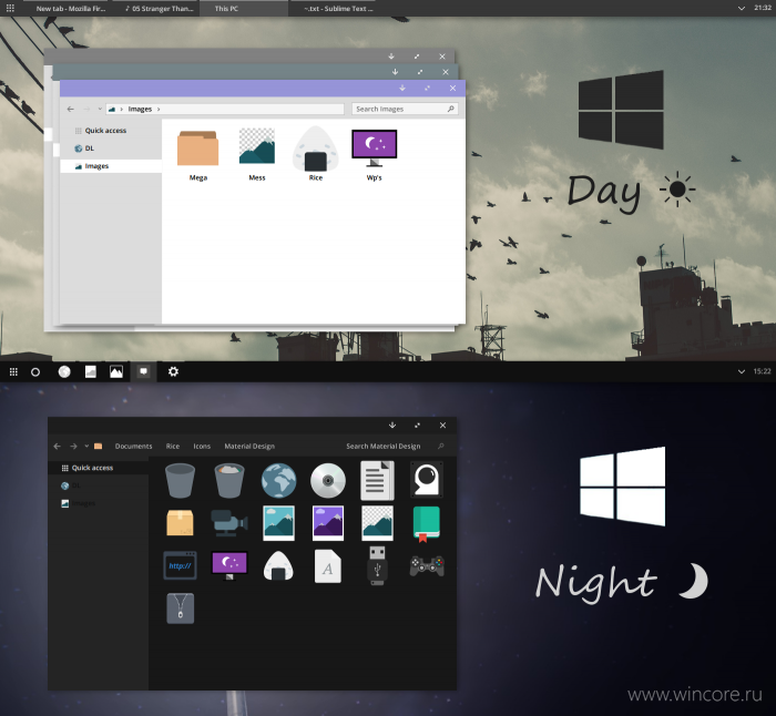 W10 Day and Night — набор светлых и тёмных тем