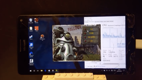 Видео: Fallout запущен в Windows 10 ARM на Lumia 950 XL