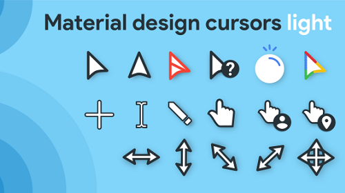 Material Design Cursors Light — современные светлые указатели