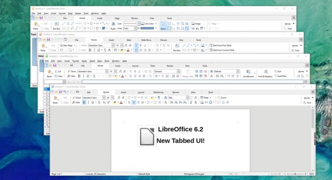 В LibreOffice запущен новый ленточный интерфейс