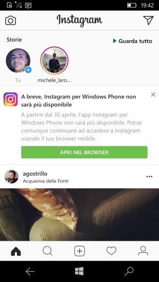 Instagram закрывает приложение для Windows Phone
