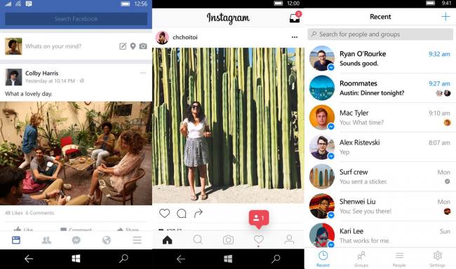 Facebook и Messenger также покидают смартфоны с Windows